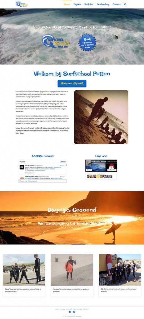 Surfschool Petten website